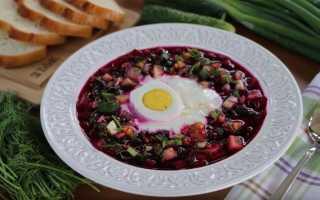 Холодный суп — свекольник