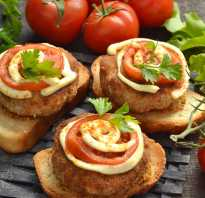Горячие бутерброды с котлетами в духовке