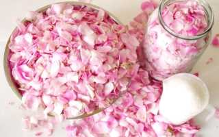 Розовые лепестки в сахаре