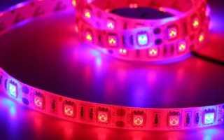 Использование светодиодной ленты для подсветки растений