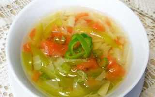 Диетический суп из сельдерея