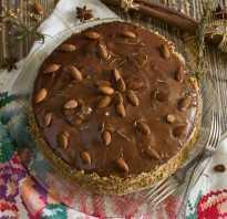 Домашний бисквитный торт с кремом из манки